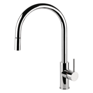 Gessi oxygene Oxygene Gooseneck Sink Mixer With Pull-Out Kitchen Taps & Mixers
