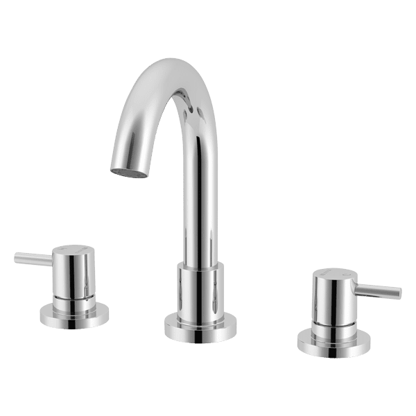 Gareth Ashton lucia Lucia Gooseneck 3 Piece Bath Set Wall & Basin Mixers