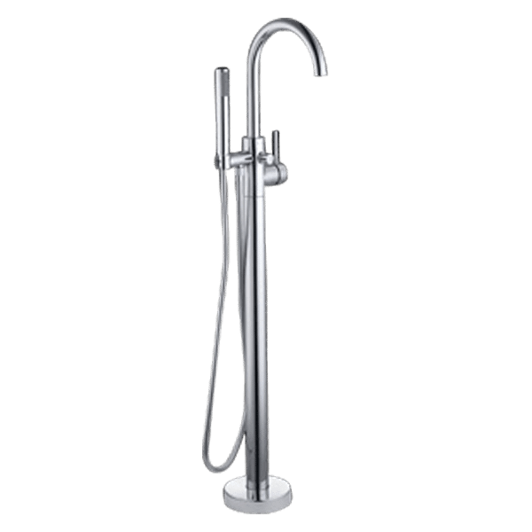 Gareth Ashton lucia Lucia Floor Mounted Bath Mixer with Hand Shower Wall & Basin Mixers