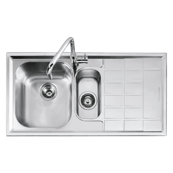 Barazza barazza-level Level 1 & 1/4 bowl Kitchen Sinks