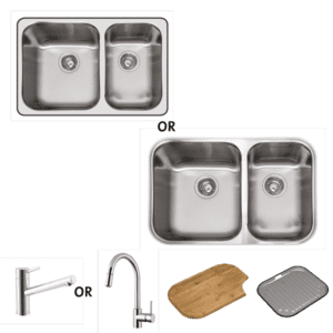 Abey abey-packages Nu Queen 180 Package Kitchen Sinks