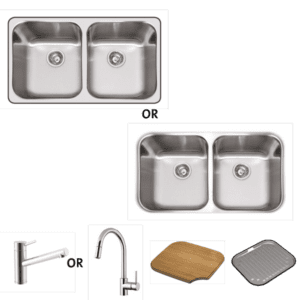Abey abey-packages Nu Queen 200 Package Kitchen Sinks
