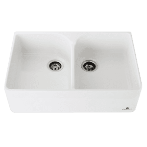 Chambord chambord-clotaire Chambord Clotaire Large Double Bowl Ceramic Kitchen Sinks