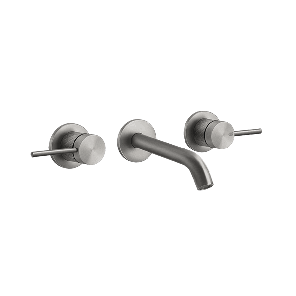 Gessi 316-intreccio Intreccio 316 Wall Mixer 3 Holes Wall & Basin Mixers