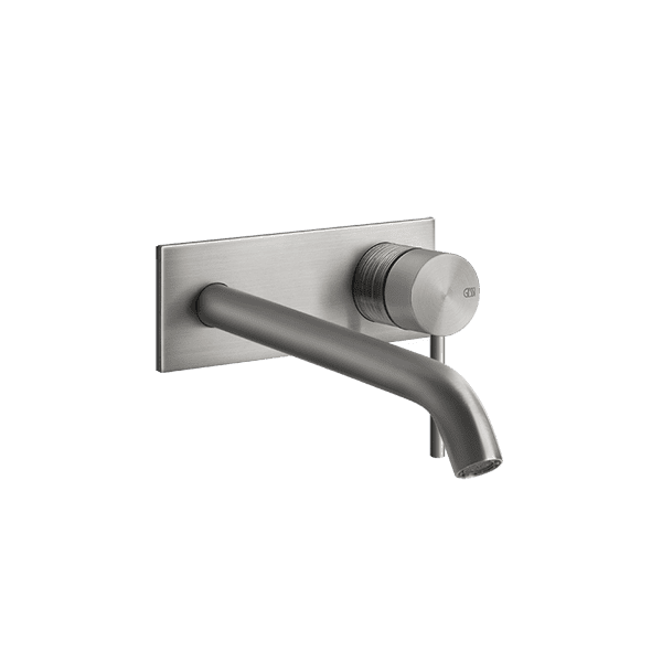 Gessi 316-trame Trame 316 Wall Mixer with Spout with Plate Wall & Basin Mixers